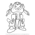 How to Draw Aquamar from Medabots