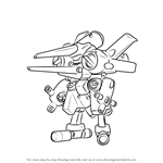How to Draw Arcbeetle-Dash from Medabots