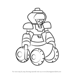 How to Draw Armorparadeen from Medabots