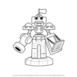 How to Draw Baroncastle from Medabots