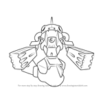 How to Draw Bass-Troyer from Medabots