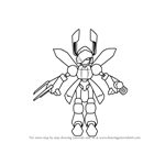 How to Draw Black-Stag from Medabots