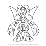 How to Draw Blackram from Medabots
