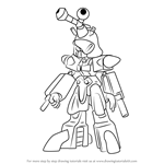 How to Draw Blakbeetle from Medabots
