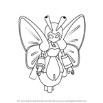 How to Draw Botafly from Medabots