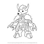 How to Draw Brownbison from Medabots