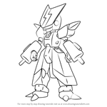 How to Draw Cyandog from Medabots