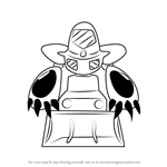 How to Draw Digmole from Medabots