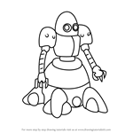How to Draw Eggy from Medabots