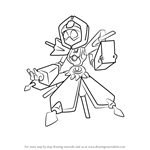 How to Draw Food-Witch from Medabots