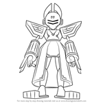 How to Draw Foxuno from Medabots