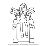 How to Draw Gloomeg from Medabots