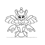 How to Draw Nervous-Bird from Medabots