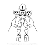 How to Draw Nin-Ninja from Medabots