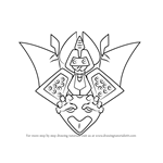 How to Draw Noctobat from Medabots