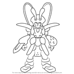How to Draw Papyrak from Medabots