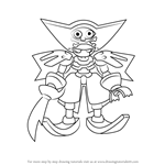 How to Draw Piraskull from Medabots