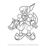 How to Draw Pirastar from Medabots