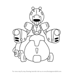 How to Draw Potato-Insect from Medabots