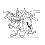 How to Draw Redrun from Medabots