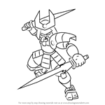 How to Draw Samurai from Medabots
