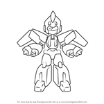 How to Draw Skycargo from Medabots