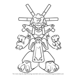 How to Draw Warbandit from Medabots