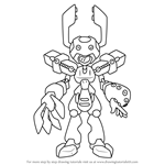 How to Draw Zorin from Medabots