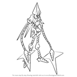How to Draw Tech Kraken from Mega Man Zero