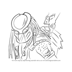 How to Draw Predator from Mortal Kombat X