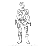 How to Draw Cassie Cage from Mortal Kombat