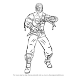 How to Draw Kano from Mortal Kombat