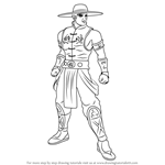 How to Draw Kung Lao from Mortal Kombat