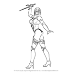 How to Draw Mileena from Mortal Kombat