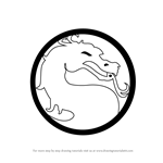 How to Draw Mortal Kombat Logo