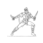 How to Draw Rain from Mortal Kombat