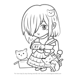How to Draw Cat Shelter Guest from Mystic Messenger
