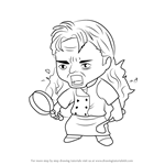 How to Draw Chef RamG Guest from Mystic Messenger