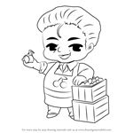 How to Draw Cherry Farm Guest from Mystic Messenger