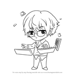 How to Draw Keyboard Guest from Mystic Messenger