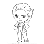How to Draw Model Guest from Mystic Messenger