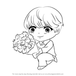 How to Draw Monogamy Guest from Mystic Messenger