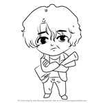 How to Draw Moon Movie Guest from Mystic Messenger