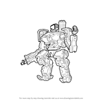 How to Draw Bastion from Overwatch