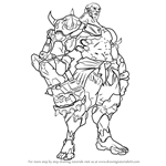 How to Draw Doomfist from Overwatch