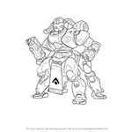 How to Draw Orisa from Overwatch