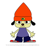 How to Draw PaRappa Rappa from PaRappa The Rapper