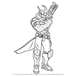 How to Draw Androxus from Paladins