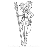 How to Draw Evie from Paladins