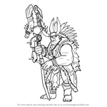 How to Draw Grohk from Paladins